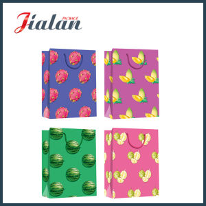 4c Printed with Fruits Pictures Hand Shopping Gift Paper Bag pictures & photos