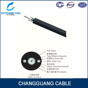 Hot Sales Aerial Central Loose Tube Armored Self Supporting 4 Core Fiber Optic Cable pictures & photos