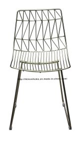 Modern Classic Restaurant Metal Wire Dining Bend Wire Chair pictures & photos