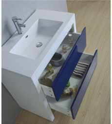Hot Sell European MDF Bathroom Cabinet with Sink pictures & photos