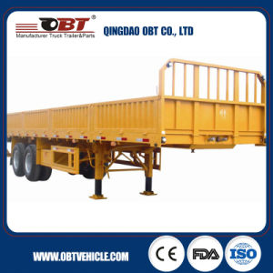 80ton Capacity Bulk Cargo Semi Trailer with Sidewalls pictures & photos