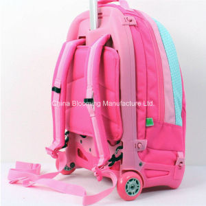 Children Travel Cartoon Book Wheel Rolling Trolley School Bag pictures & photos