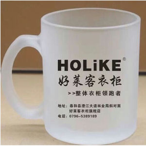 280ml Cheap Custom Customized Frosted Translucent Glass Water Mug (DC-HXG-1-280) pictures & photos