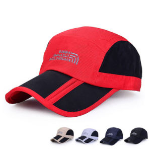 Foldable Fast Dry Polyester Microfiber Baseball Sports Cap (YKY3060) pictures & photos