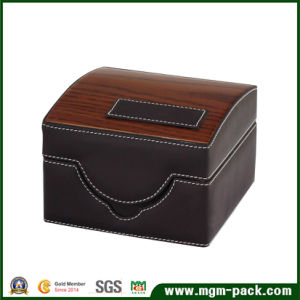 New Design PU Leather Wooden Watch Box pictures & photos