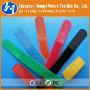 Durable Colorful 100% Nylon Self-Locking Velcro Cable Tie pictures & photos