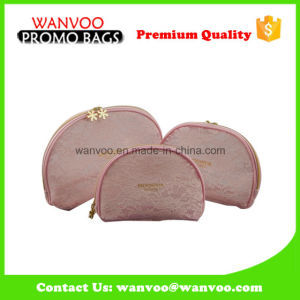 Pink Dumpling Nylon Mesh Cosmetic Bag with Zipper pictures & photos