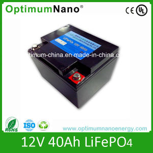 Lithium Battery Type 12volt 40 Ah LiFePO4 Battery for UPS and Solar System pictures & photos