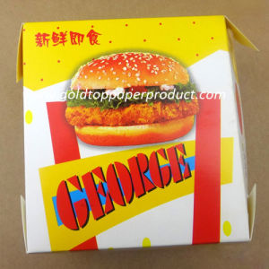 Wholesales Recycled Kraft Paper Meal Box Food Safe Paper Hamburger Box pictures & photos