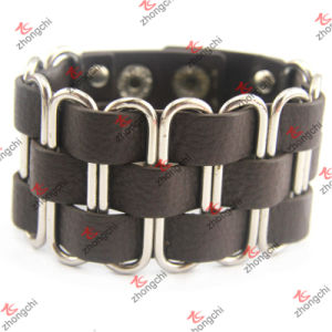 Metal Clip Leather Bracelet for Unisex Bracelet Jewelry (LB151110) pictures & photos