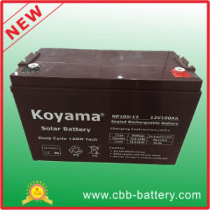 12V 100ah Lead Acid AGM Battery for Telecom, Solar & UPS pictures & photos