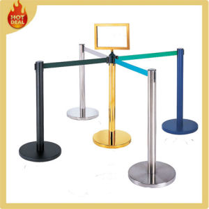 Retractable Queue Rope Barrier Belt Stanchions Tape pictures & photos