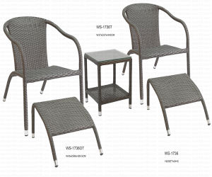 UV Resistant Wicker Dining Set (WS-1763) pictures & photos