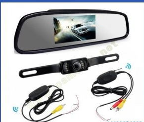 "4.3"" TFT LCD Wireless Car Rear View System with Night Vision Camera"