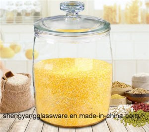 Free Sample Grain Storage Tank Large Size Glass Storage Jar Glass Container with Lid pictures & photos