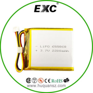 Perfect Lipo Battery From Geb/655060 3.7V2200mAh Rechargeable pictures & photos