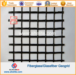 50knx50kn Glassfiber Geogrids Coated with Asphalt Bitumen pictures & photos