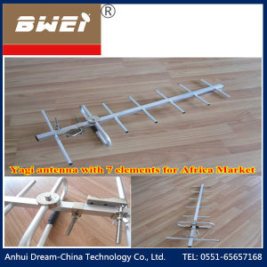 Outdoor UHF 7 Elements Yagi Antenna 470-862MHz for Africa Market pictures & photos