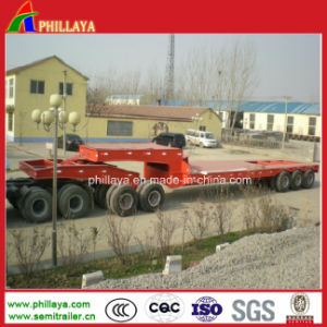 150t Heavy Duty Flatbed Equipment Machinery Lowbed Dolly Trailer pictures & photos