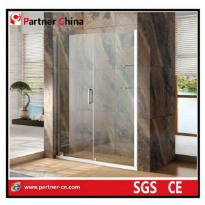 Hotel Shower Enclosure Europe and The United States Fashion Simple Shower Enclosure Glass Shower Enciosure with Stainless Steel Frame (MZ6221) pictures & photos