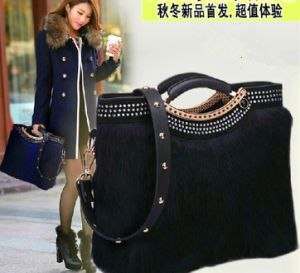 New Design High Quality Ladies Cheap Rabbit Fur Bag