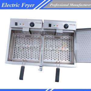 Electric Fryer Double Tanks Deep Fat Frying Machine Dzl-800 pictures & photos