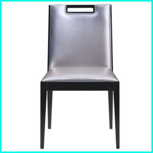 PU Leather Wooden Frame Dining Chair for Restaurant pictures & photos