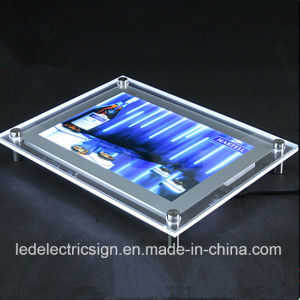 Acrylic Poster Frame Crystal Advertising LED Light Box pictures & photos