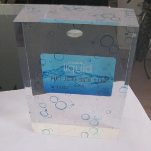 Transparent Resin and Crystal Holder Display for Decoration pictures & photos