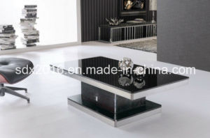 Home Furniture Living Room Furniture Coffee Table Glass on Top pictures & photos