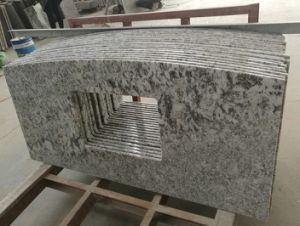 Wholesale Prefab Dining Table Kitchen Countertop Bianco Antico White Granite pictures & photos