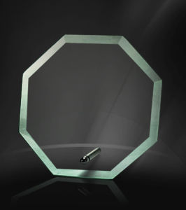 Jade and Clear Crystal Glass Awards with Metal Stands Hotsale pictures & photos