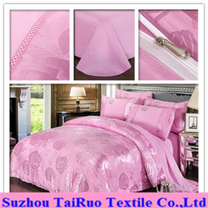 Jacquard Bed Sheet of 100% Poly Pongee Fabric pictures & photos