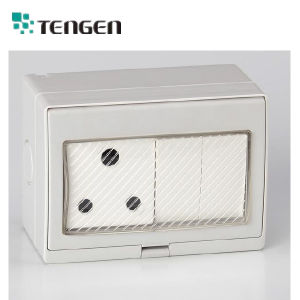 South Africa Electrical 250V/16A 2 Way Single Control Waterproof Switch Socket pictures & photos