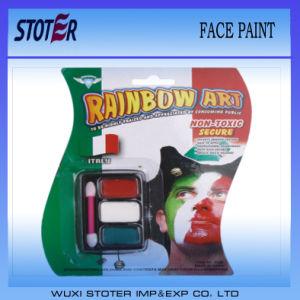 Factory Promotion Cheap European Cup 3 Colors Fans Face Paint, Flag Face Paint Stick, Cheap Face Paint Set pictures & photos