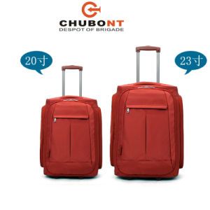 Chubont Light Weitght Built-in Trolley System 2 Wheels Soft Luggage Bag pictures & photos