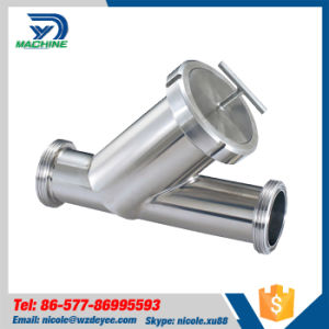 Sanitary Pipe Fitting Male Thread Y Type Filter Strainer pictures & photos