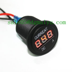Automobile Motorcycle DC 1-10A LED Digital Ampere Current Meter for 12-24V pictures & photos