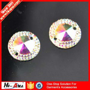 Sedex Factory Various Colors Button Resin Rhinestone Flatback pictures & photos