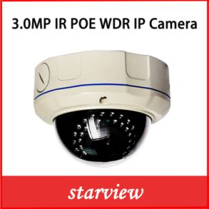 Vandal-Proof Dome Zoom Lens 3.0MP WDR Poe IP Camera pictures & photos