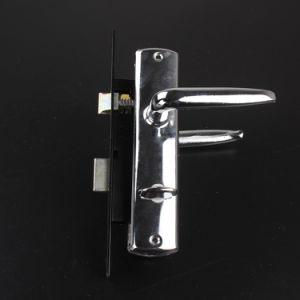 4210 Aluminum Handle Iron Plate Bedroom Door Handle Lock pictures & photos