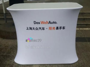 Custom Printed Spandex/Tension/Stretch Polyester Fabric Table Podium Display (NO Wrinkle) pictures & photos