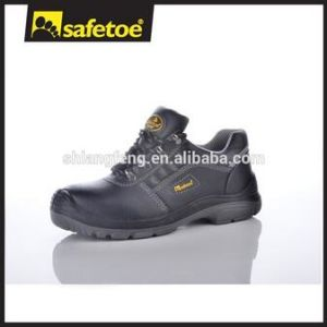 Cow Leather Water Resistant Safety Shoes with PU Injection pictures & photos