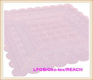 PVC Vinyl Color Crochet Lace Tablecloth New Designs pictures & photos