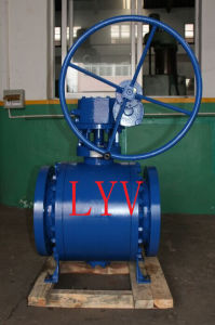 Worm Gearbox Flanged Cast Steel Ball Valve