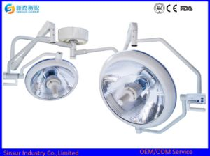 Qualified Halogen Double Dome Ceiling Shadowless Operating Surgical Light pictures & photos