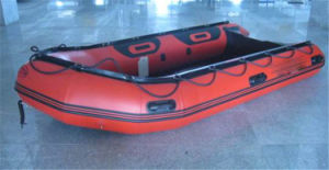 PVC Aluminium Floor Inflatable Rowing Boat pictures & photos