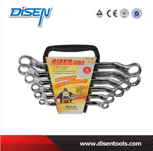 6PC Double Ring Chrome Plated Offset Wrench Set pictures & photos
