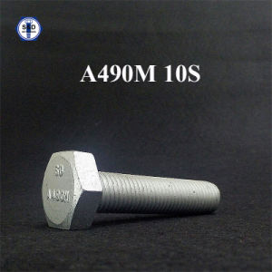 ASTM A490m 10s Hex Bolt Dacromet with Full Thread pictures & photos