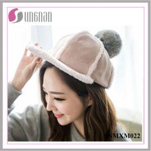 Fashion Warm Hip Hop Hat Plush Fur Ball Flat-Brimmed Cap (SNMXM022) pictures & photos